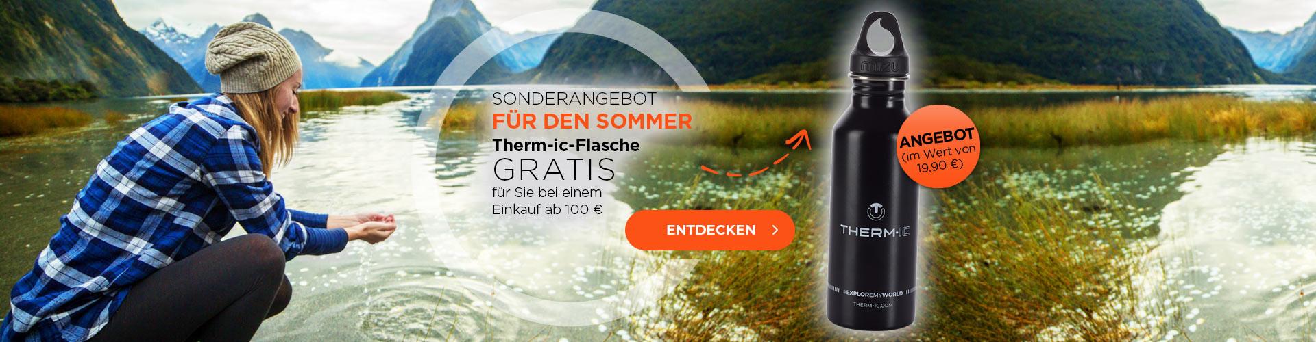 Holen Sie sich Ihre kostenlose Wasserflasche, wenn Sie 100€ oder mehr ausgeben