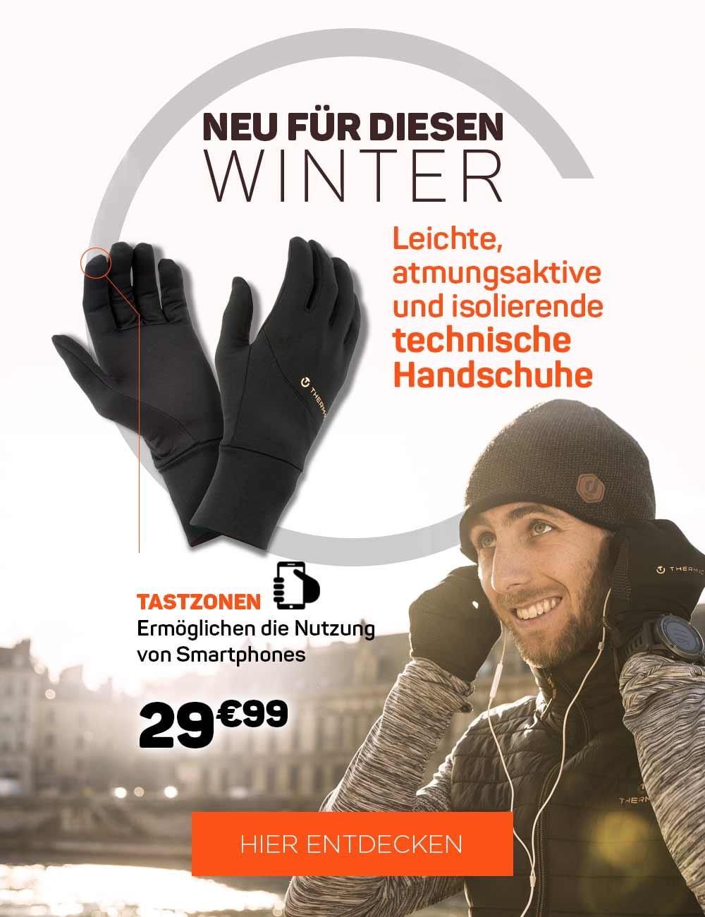 Leichte, atmungsaktive und isolierende technische Handschuhe