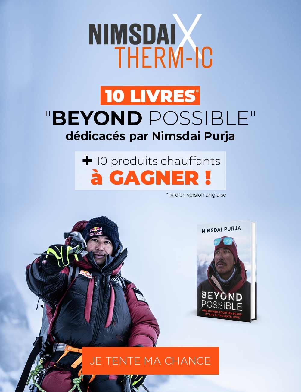 Gagnez votre livre Beyond Possible dédicacé par Nimsdai Purja et 1 produits chauffant !