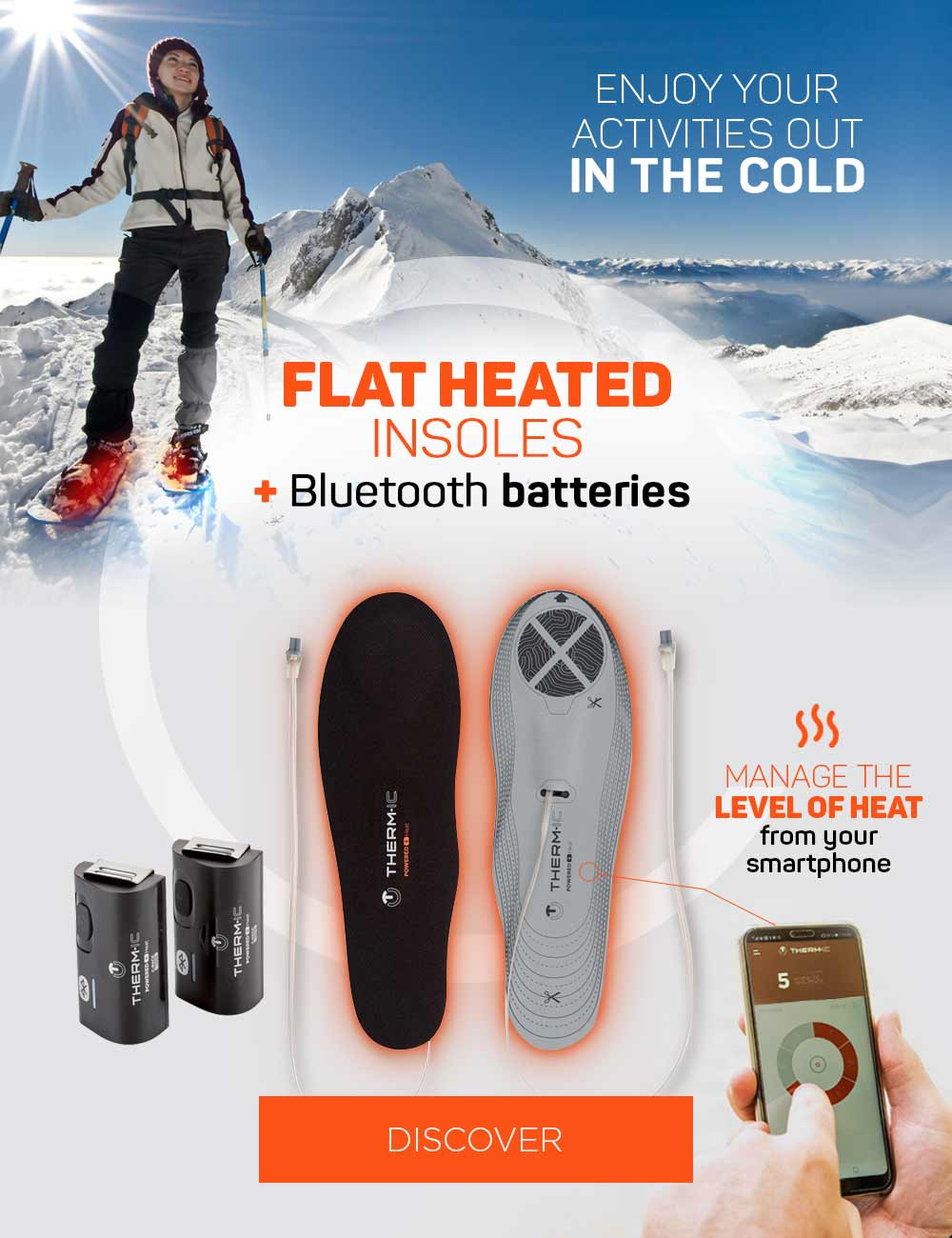 Say goodbye to frozen foot thanks to our heated insoles