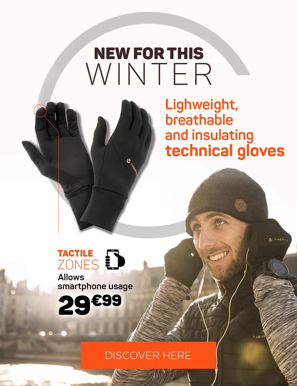 New this winter : active light tech gloves