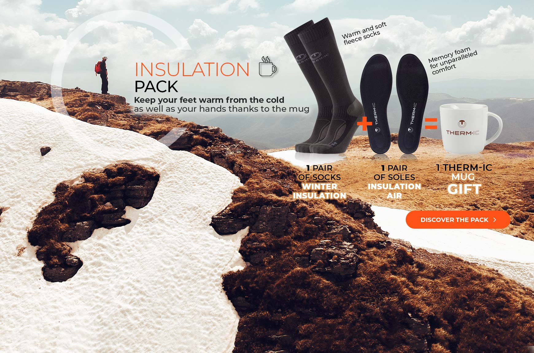 Take advantage of our winter insulation pack and get a free mug