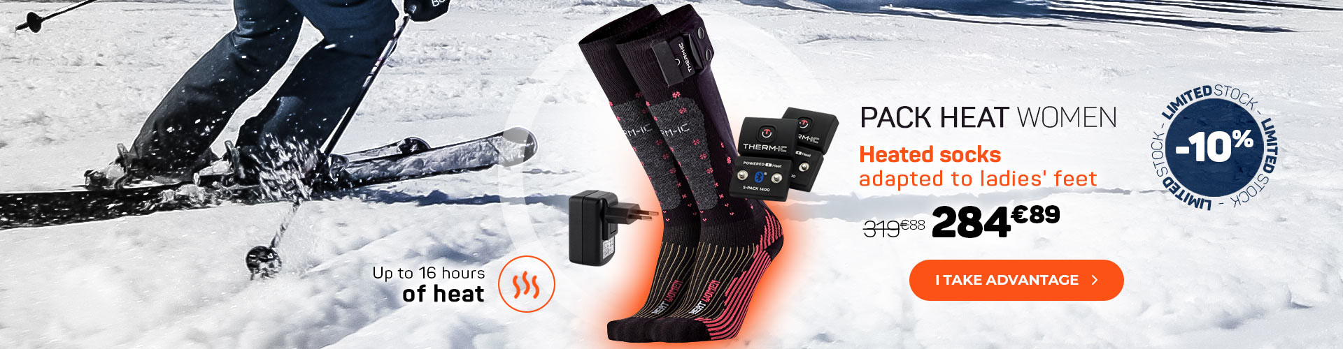 Say STOP to frozen feet thanks to our heated socks!