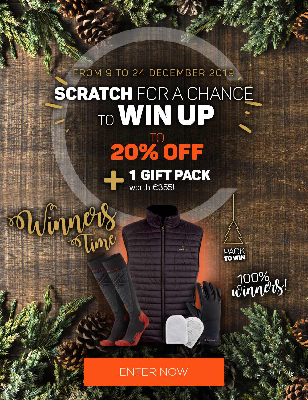 Scratch and discover your voucher!