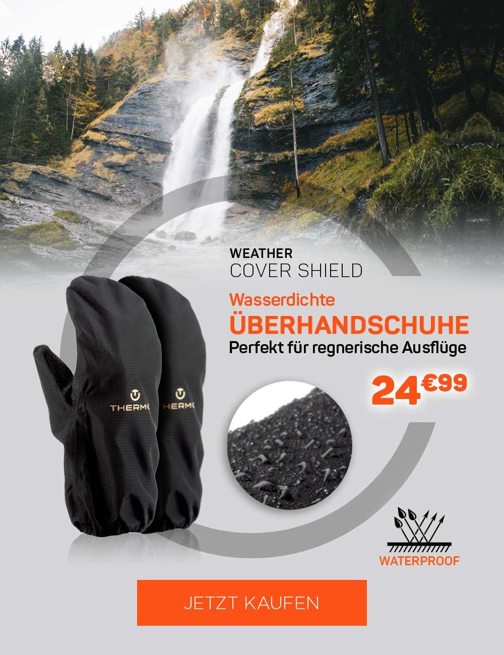 Wasserdichte Überhandschuhe, perfekt für regnerische Ausflüge