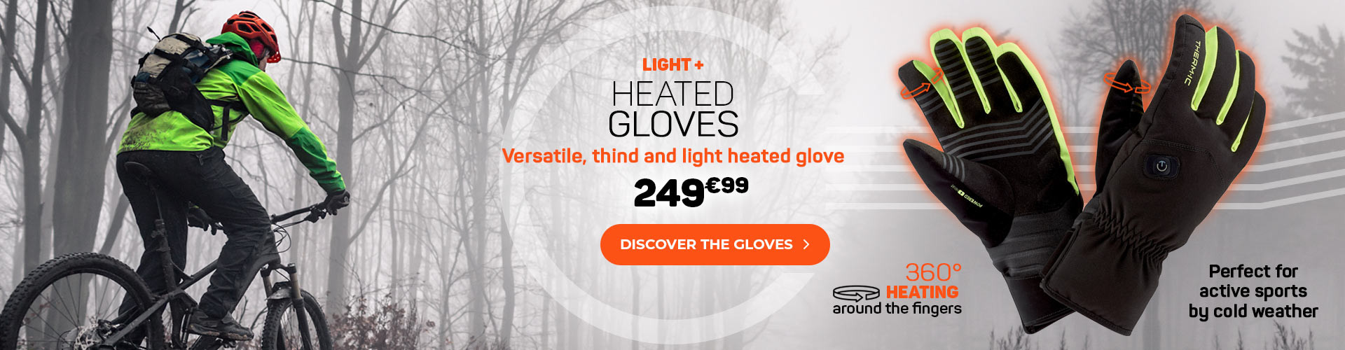 Dicover the new heated gloves Light +, versatile and thin, perfect for active sports!