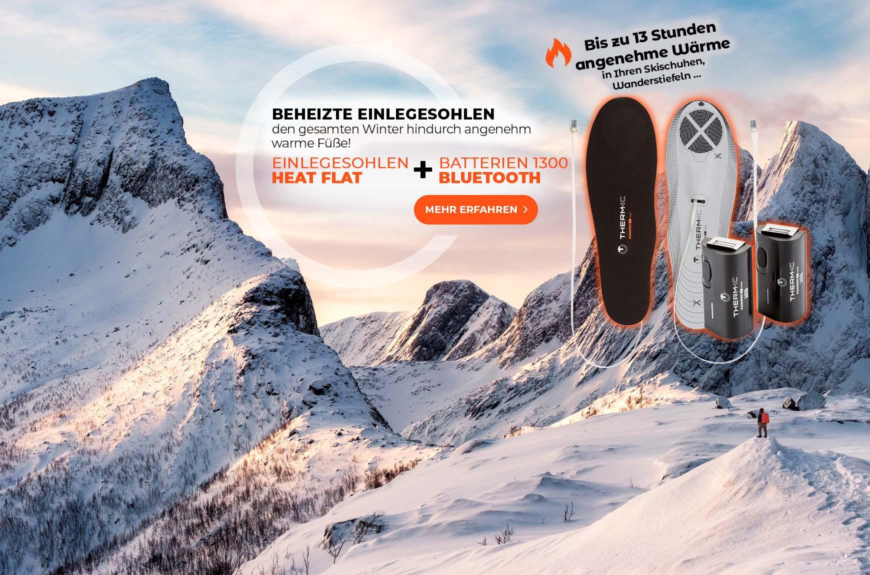 SET einlegesohlen HEAT FLAT + batterien C-PACK 1300 B