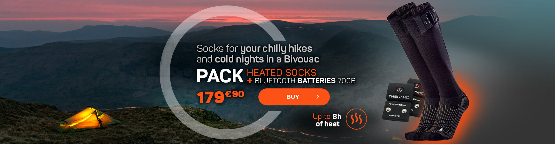 Socks for your chilly hikes and cold nights in a Bivouac
