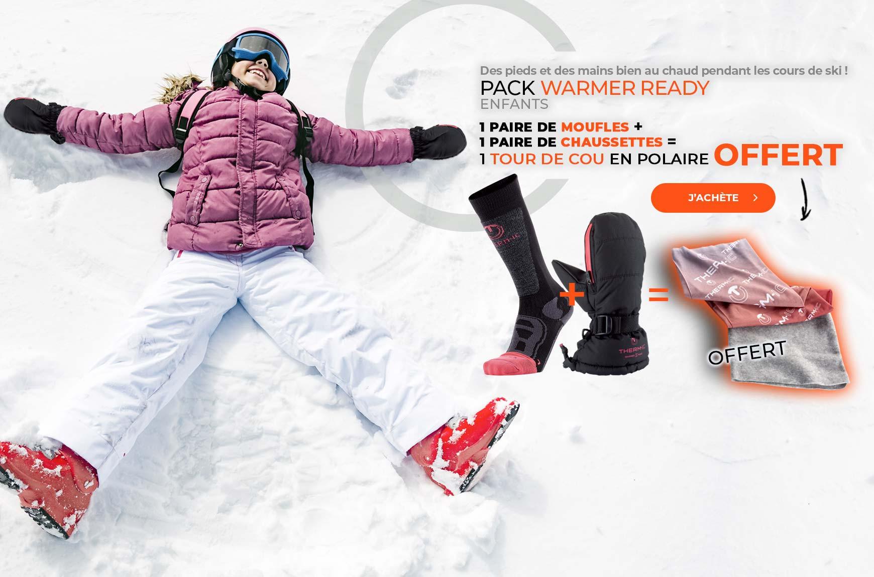 OFFRE un tour de cou OFFERT pour l'achat de 2 produits enfant Warmer Ready