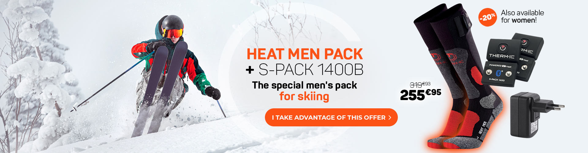 Enjoy 20% off on the Heat men pack! Limited offer!