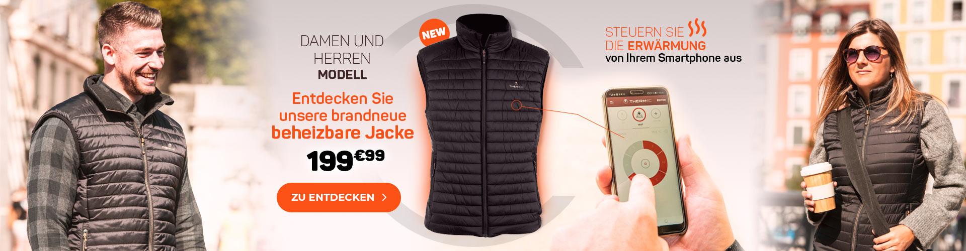 Entdecken Sie unsere brandneue beheizbare Jacke!