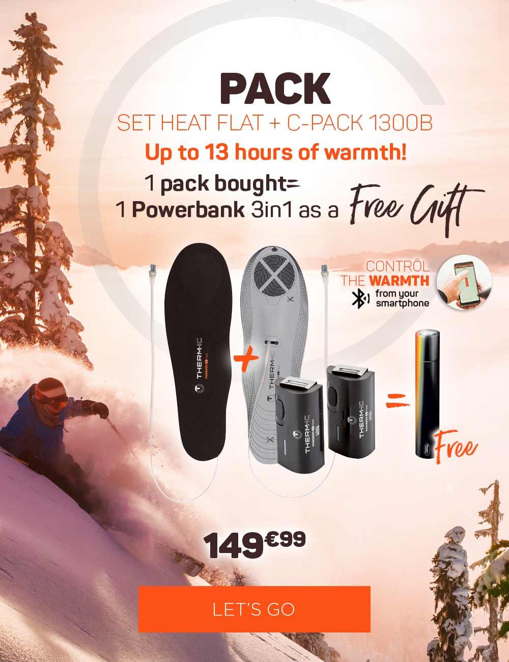 Buy 1 set heat flat + 1300, get your free powerbank 3in1