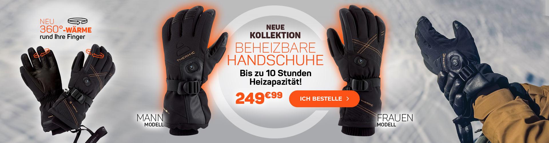 Entdecken Sie unsere neue Kollektion von beheizten Handschuhen mit bis zu 10 Stunden Wärme!