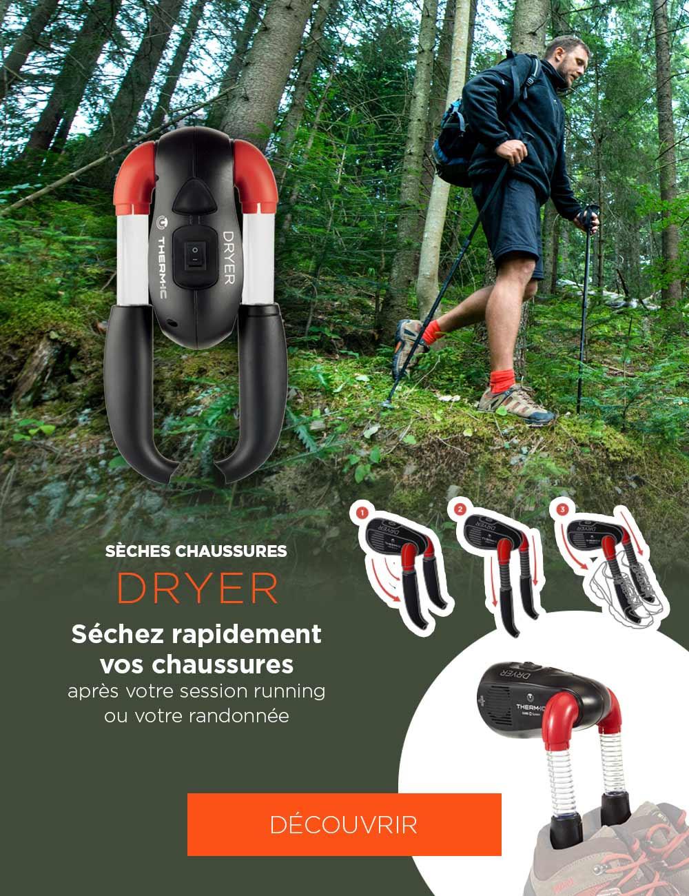 Séchez rapidement vos chaussures après votre session running ou votre randonnée