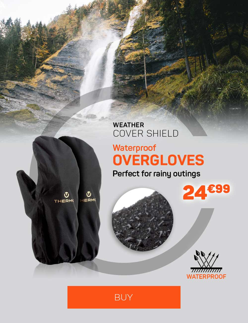 Waterproof overgloves, perfect for rainy outings