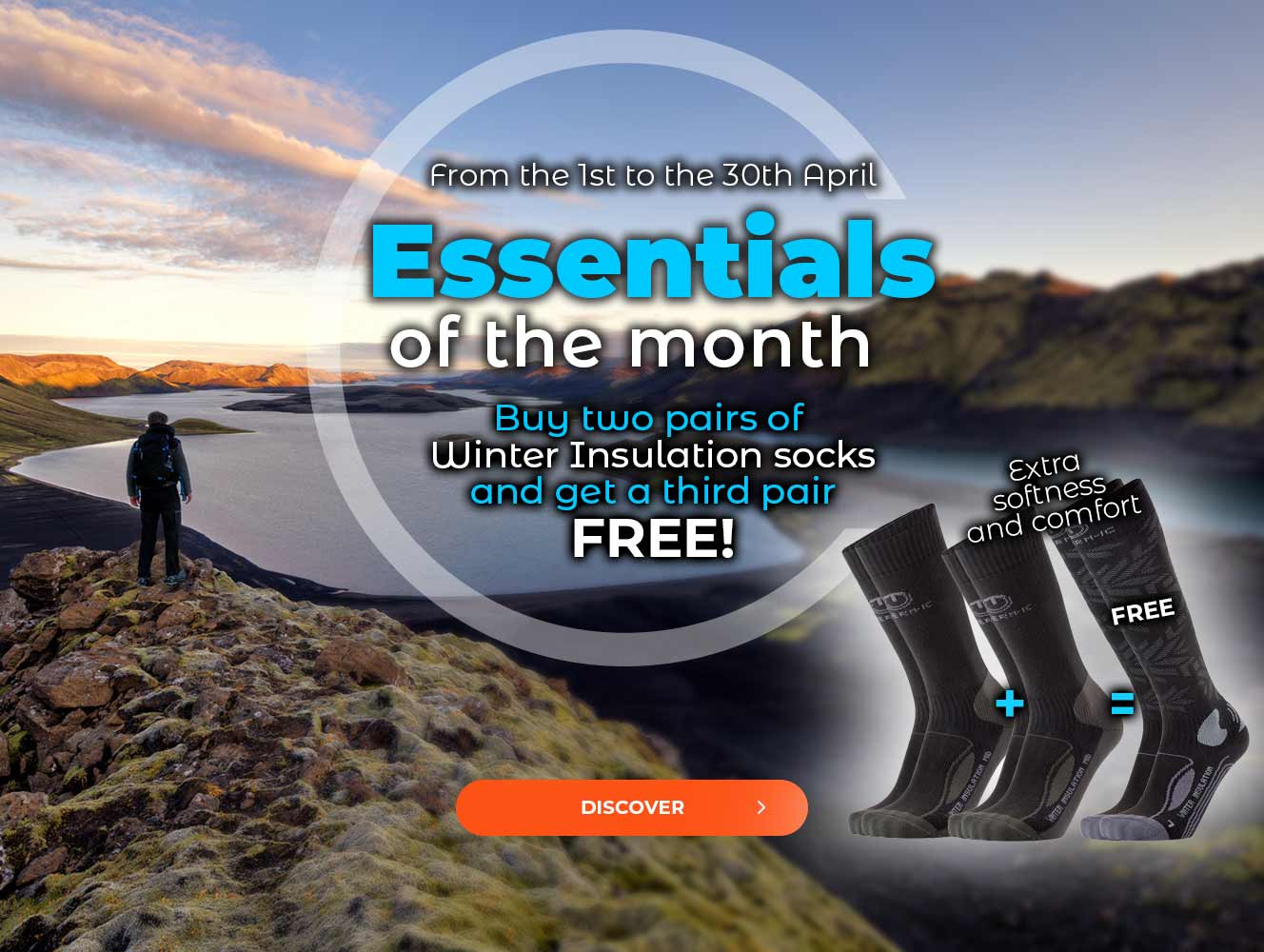Buy two pairs of Winter Insulation socks and get one for free