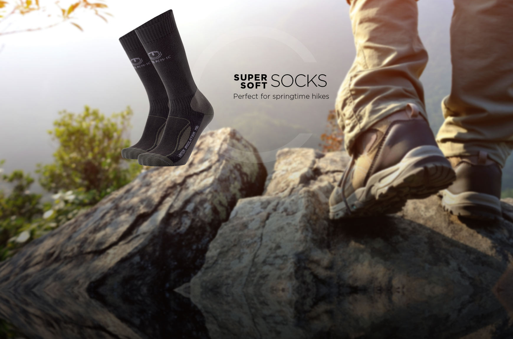 Soft fleece socks Winter Insulation Mid